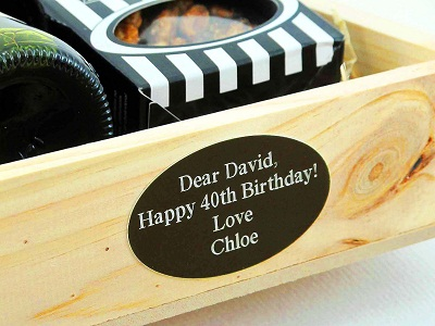 Product engraving - available on all hampers and wine boxes.