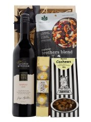 Gifts hampers delivered a little luxury mellow red wine hamper negle Choice Image