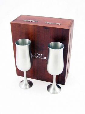 Royal Selangor Flute Pair in Wooden Gift Box