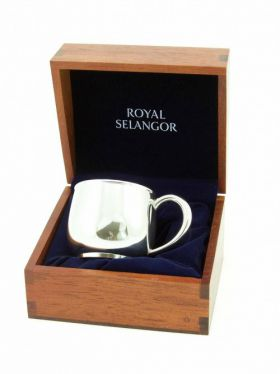 Royal Selangor Baby's Mug in Wooden Gift Box