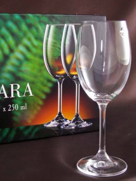 Bohemia Crystal Lara Wine Glasses, 250ml x 6