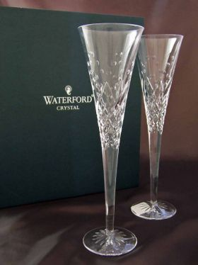 Waterford Crystal Happy Celebration Champagne Flutes
