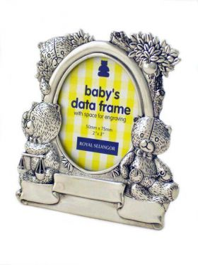 Royal Selangor Teddy Bears Picnic - Baby's Data Photoframe