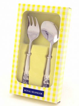 Royal Selangor Teddy Bears Picnic - Fork & Spoon Set, Mealtime