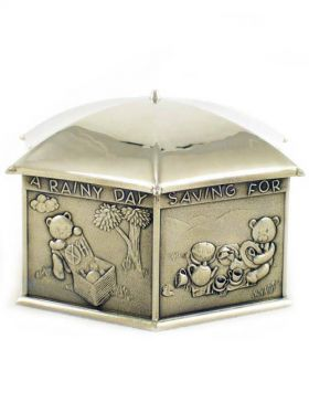 Royal Selangor Teddy Bears Picnic - Coin Box, Rainy Day