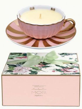 MOR Marshmallow Tea Cup Candle, 165g