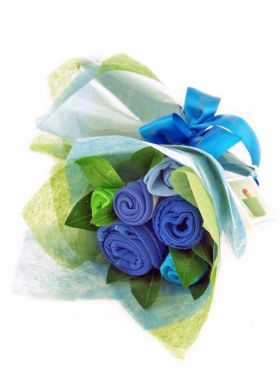 Babycupcakes Essential Clothes Bouquet - Brilliant Blue