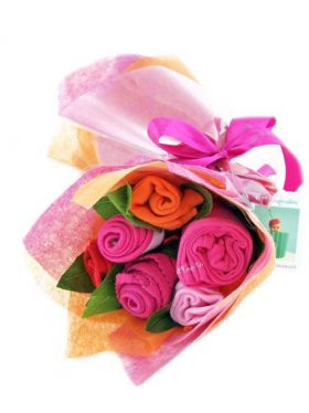 Babycupcakes Essential Clothes Bouquet - Funky Fuschia