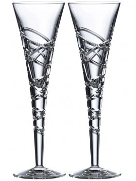 Royal Doulton Saturn Champagne Flutes - Set of 2