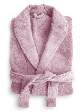 Bambury Microplush Robe - Blush - Med/Large