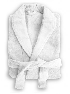 Bambury Microplush Robe - White - Small/Medium