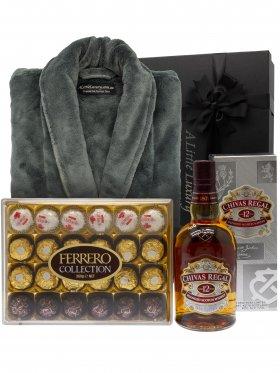 Men's Robe & Scotch Pamper Hamper