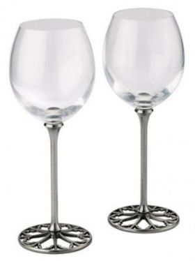 Royal Selangor Tracery Red Wine Glasses