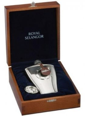 Royal Selangor Ship Hipflask in Wooden Gift Box