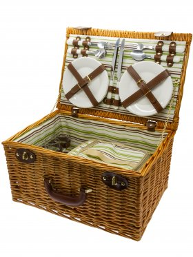 Four Person Deluxe Picnic Basket