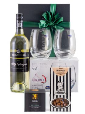 Stemless Crystal Wine Glasses & White Wine Gift Set