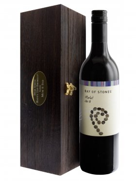 Premium Wine Box with Wine & Engraved Plaque