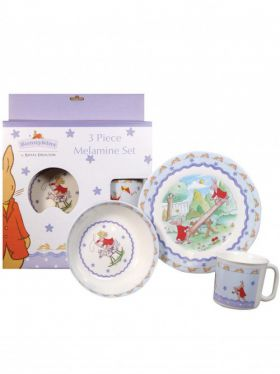 Royal Doulton Bunnykins - 3 Piece Melamine Set - Shining Stars