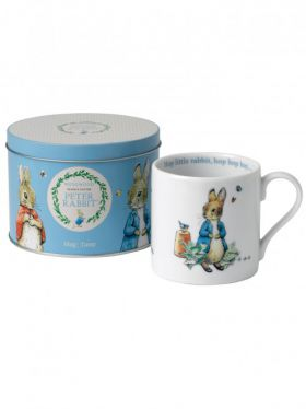 Peter Rabbit Classic - Large Blue Mug in Tin
