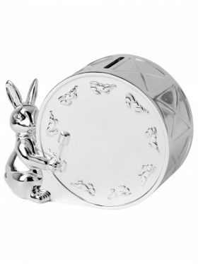 Royal Doulton Bunnykins Silver Money Box - Tirelire