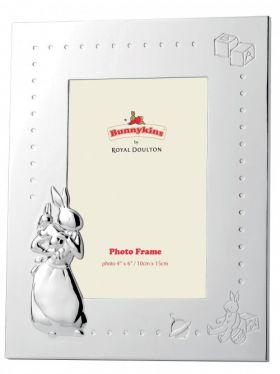 Royal Doulton Bunnykins Silver Photo Frame 4' x 6'