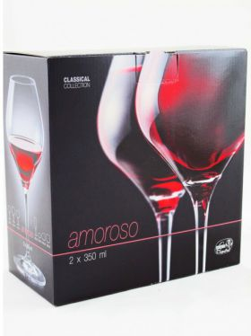 Bohemia Crystal Amoroso Wine Glasses, 350ml x 2
