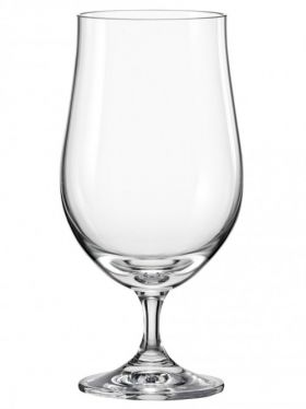 Bohemia Crystal Beer Glasses, 380ml x 2
