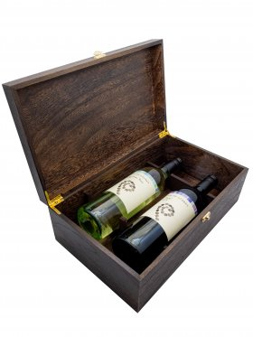 Premium Double Wine Box with Wine
