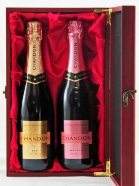 Chandon Duet in Premium Satin Lined Wine Box