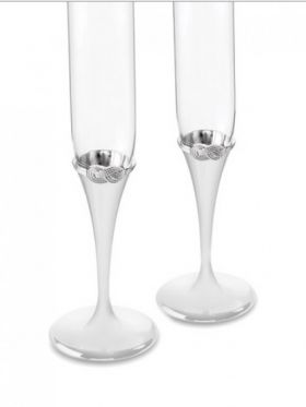Wedgwood Vera Wang Infinity Toasting Champagne Flute Pair