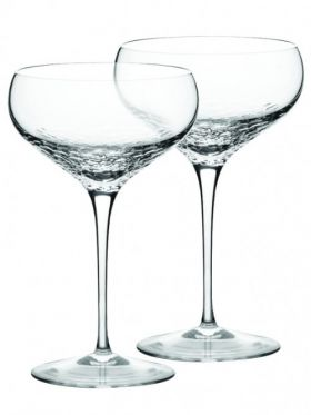 Wedgwood Vera Wang Sequin Crystal Champagne Saucer Pair