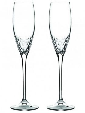 Wedgwood Vera Wang Sequin Champagne Flute Pair