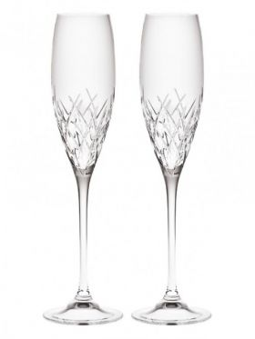 Wedgwood Vera Wang Duchesse Crystal Classic Champagne Flutes