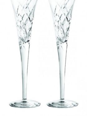 Wedgwood Vera Wang Duchesse Crystal Clear Champagne Flutes