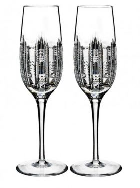 Waterford Crystal Essentially Waterford Dungarvan Champagne Flute Pair