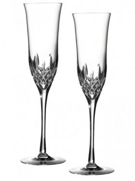 Waterford Crystal Lismore Essence Flute Champagne Pair