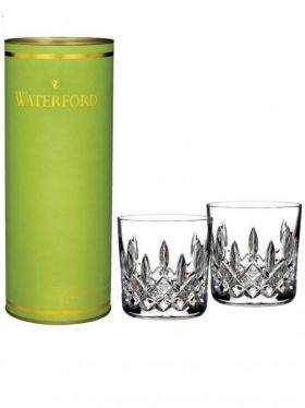 Waterford Crystal Giftology Lismore Double Old Fashioned Tumbler Pair