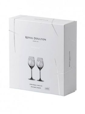 Royal Doulton Promises Collection Two Hearts Entwined Wine Pair