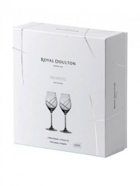 Royal Doulton Promises Collection With This Ring Wine Pair
