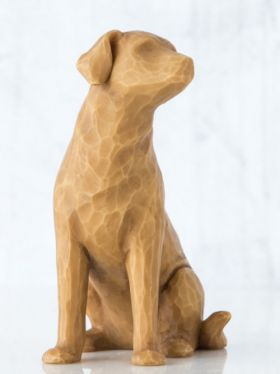 Willow Tree Figurine - Love my Dog (Light)