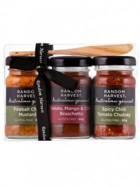 Random Harvest Mini-Me Chilli BBQ Gift Pack, 3 x 60g