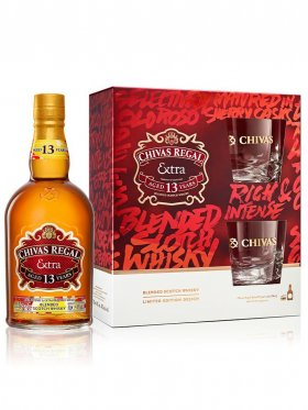 Chivas Regal Extra with Two Glasses Gift Pack 700mL