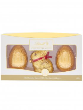 Lindt Milk Chocolate Gold Bunny, Egg and Carrots 130g