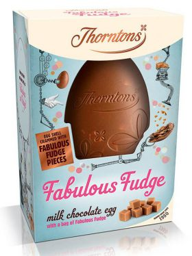 Thorntons Fabulous Fudge Milk Chocolate Egg 235g