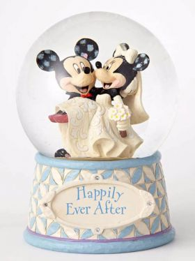 Disney Traditions Waterball - Mickey and Minnie - Happily Ever After