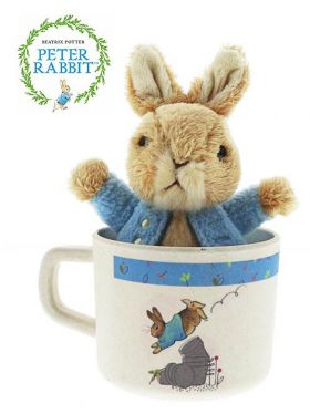 Peter Rabbit - Peter Bamboo Mug & Soft Toy Gift Set