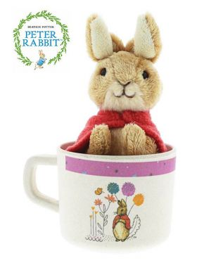 Peter Rabbit - Flopsy Organic Bamboo Mug & Soft Toy Gift Set