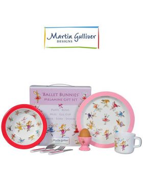 Martin Gulliver 7 Piece Children's Set - Ballet Bunnies