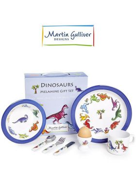 Martin Gulliver 7 Piece Children's Set - Dinosaurs