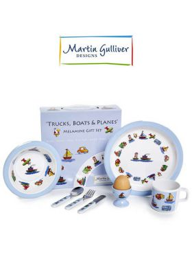 Martin Gulliver 7 Piece Children's Set - Trucks, Boats & Planes